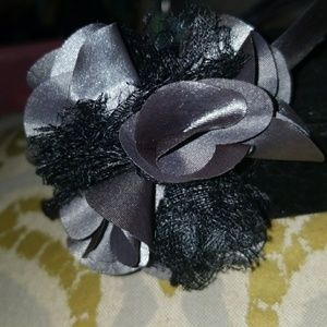 Grey headband with grey flower
